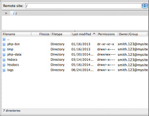 filezilla directory list